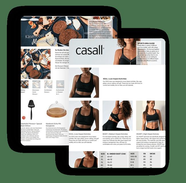 Boska & Casall, A+ content, Brandsom A+ content